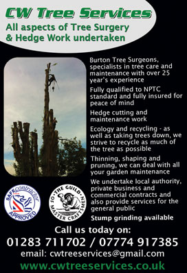 Click to view the CW Tree Services BartonBiz advert