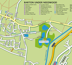 Barton under Needwood Map